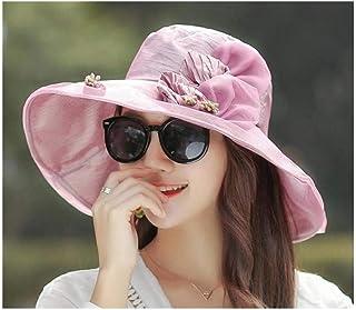 BMKWSG-MAOZi Laprotección Solar de protección UV para elVerano de Las Mujeres sepliega a la Sombra y se Adapta al Sombrero Plegable para el Sol