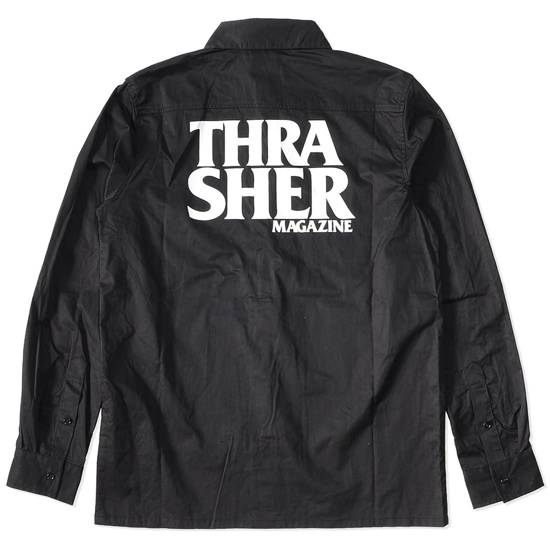 THRASHER スラッシャー 長袖シャツ バック2段ネーム THRA SHER (TH5092)