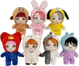 VogueMing 20cm Kpop BTS Plush V Jimin SUGA RM JK JIN J-Hope Doll Toy with 3sets of Clothes (Jungkook)