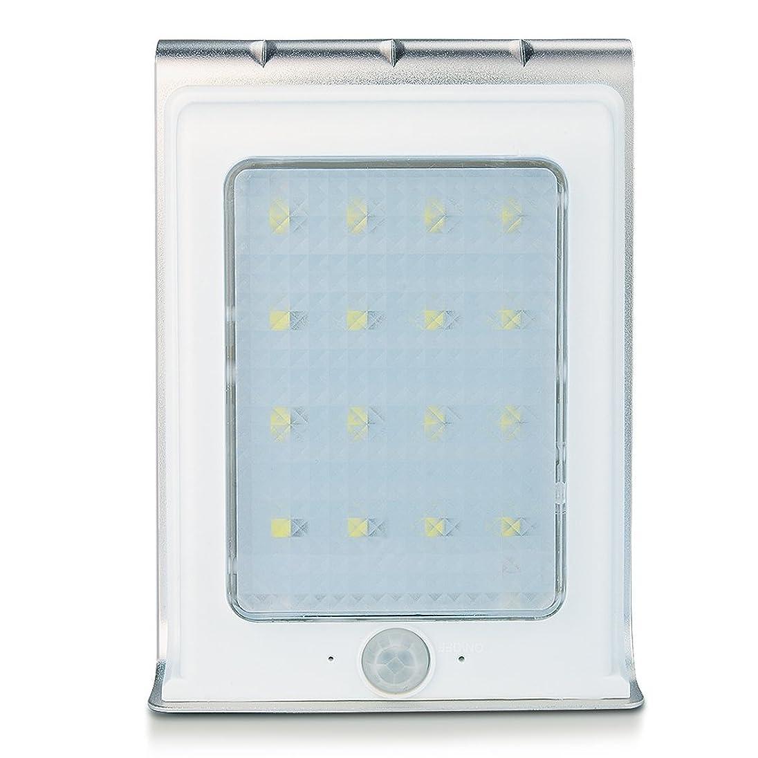 殉教者軍好戦的なUniquefire 改良版 ソーラーライト充電式LEDライト16個LED電球 人感センサーと明暗センサーを搭載アウトドアライト (1点セット)