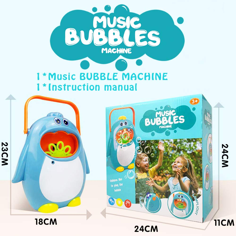 Wedding Blue AiToy Bubble Machine Party Automatic Bubble Maker Penguin Bubble Blower Maker Kids Toy for Boys Girls Use for Indoor Outdoor
