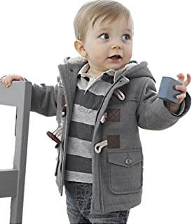 Fairy Wings Baby Boys Toddlers Cotton Blend Hooded Duffle Coat Toggle Coat