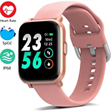 MorePro 18 Sports Mode Smart Watch with Music Control, DIY Screen Fitness Tracker with Heart Rate Monitor, Sleep Tracker with Pedometer Step Calories Counter for Men Women