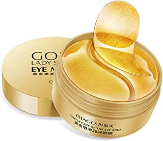 Under Eye Patches, 24K Gold Under Eye Bags Treatment Masks, Under Eye Mask Reduces Dark Circles, Eye Mask for Puffy Eyes, Eye Gel Patches Anti-Aging (60PCS)