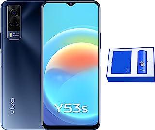 هاتف Y53s من فيفو بشريحتي اتصال 128 جيجا وذاكرة رام 8 جيجا، تصميم رائع بزرقة البحر العميق مع صندوق هدايا