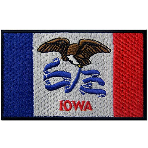 Iowa State Flag Embroidered Emblem Iron On Sew On IA Patch