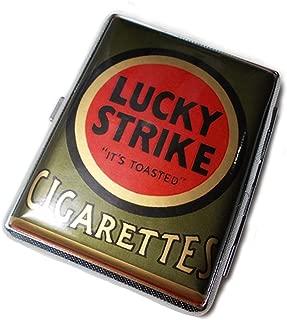 Vintage inspired Lucky Strike Green Pack Cigarette Case Wallet Card Holder