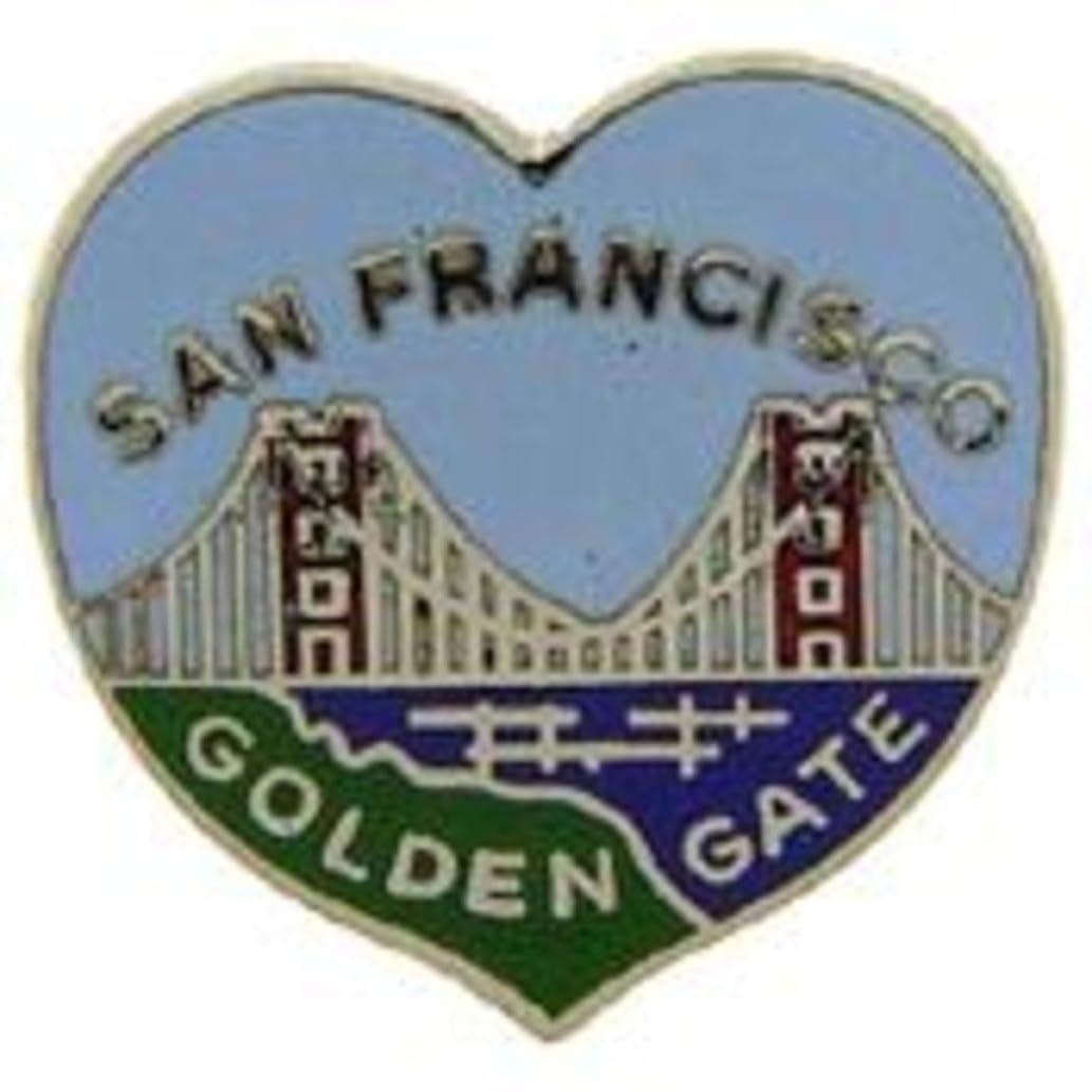 EagleEmblems P00410 Pin-CA,SF,Heart (1'')