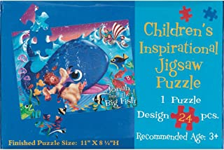 Jonah and the Big Fish 11 x 8 Cardboard 24 Piece Childrens Puzzle and Devotion