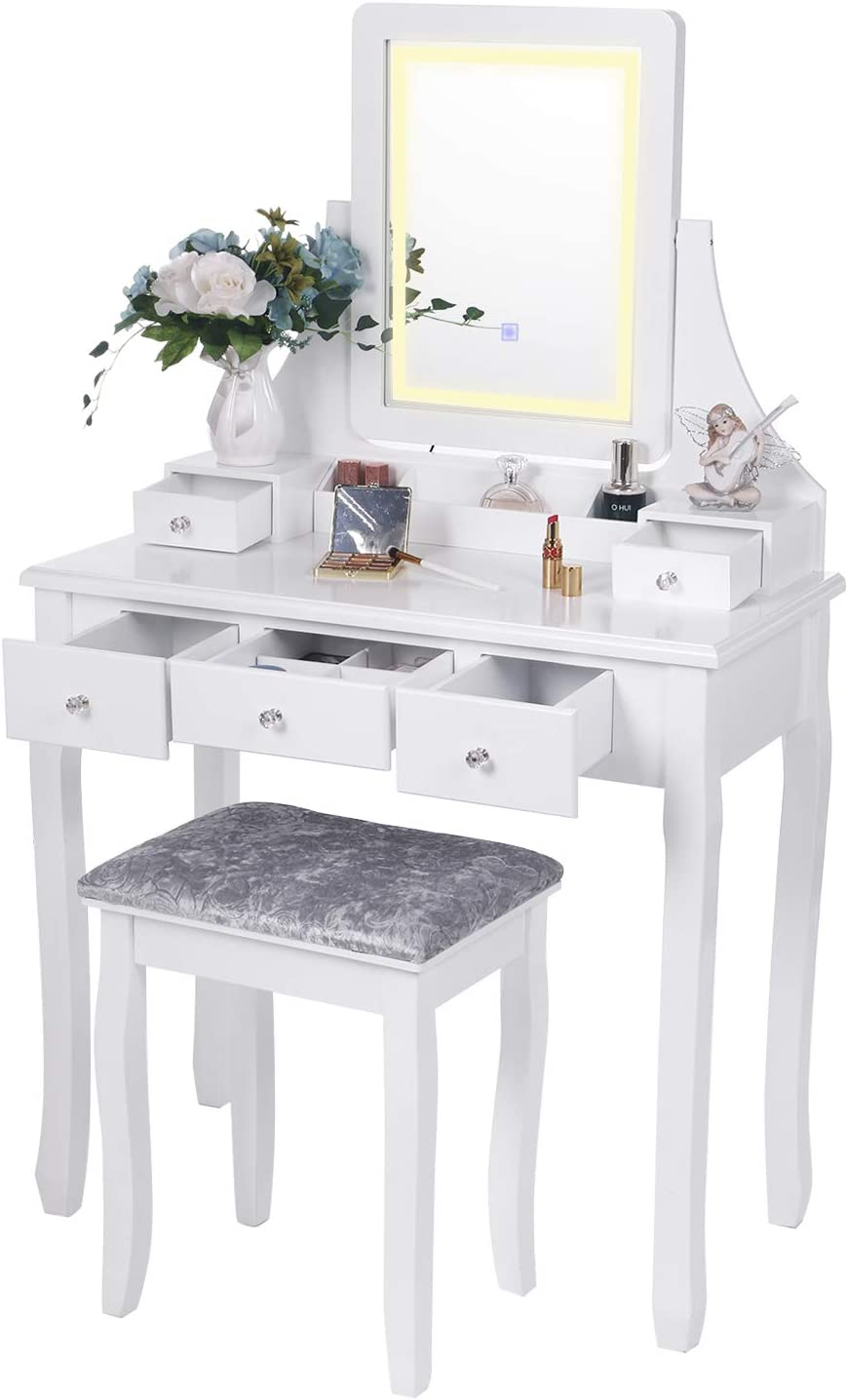 BEWISHOME Vanity Set with Lighted Touch Dimming Screen S Ranking Manufacturer direct delivery TOP10 Mirror