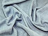 Leinenoptik Polyester Crepe Soft passend Kleid Stoff