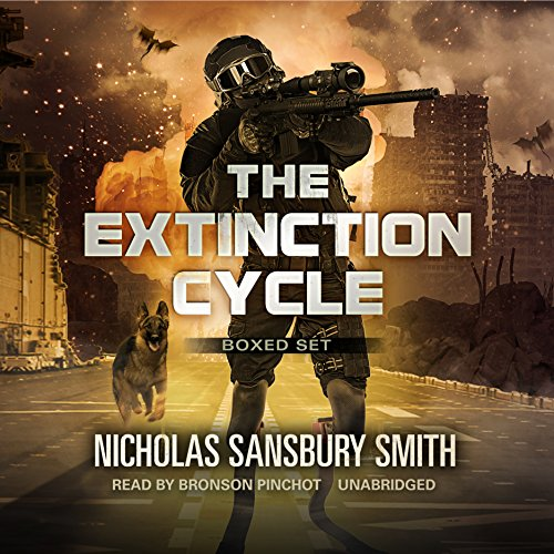 The Extinction Cycle Boxed Set, Books 4–6     Extinction Evolution, Extinction End, and Extinction Aftermath              By:                                                                                                                                 Nicholas Sansbury Smith                               Narrated by:                                                                                                                                 Bronson Pinchot                      Length: 32 hrs and 54 mins     1,915 ratings     Overall 4.6