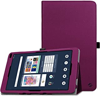 Fintie Barnes & Noble Nook 10.1 Tablet Case, Premium Vegan Leather Folio Stand Cover with Auto Wake and Sleep for Nook 10.1 Inch Model BNTV650 Tablet, Purple