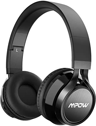 Mpow Thor Cuffie Bluetooth, Cuffie Over Ear Pieghevole, Auricolari Wireless Senza Fili, Cuffie Wireless Con Microfono, Audio Hi-Fi Cuffie Bluetooth 4.1Per iPhone/Huawei/Samsung e Altri Telefoni/PC ecc