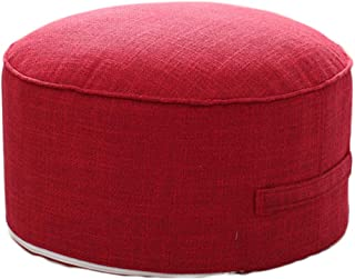idee-home Round Pouf Foot Stools Ottomans - Small Foot Rest Pouffe for Sitting, Ottoman Pouf for Living Room Small Space for Adults and Kids, Handle Design for Easy Removal 14