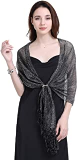 Shawls and Wraps for Evening Dresses, Bridal and Wedding Shawl Wrap with Fringes for Ladies,