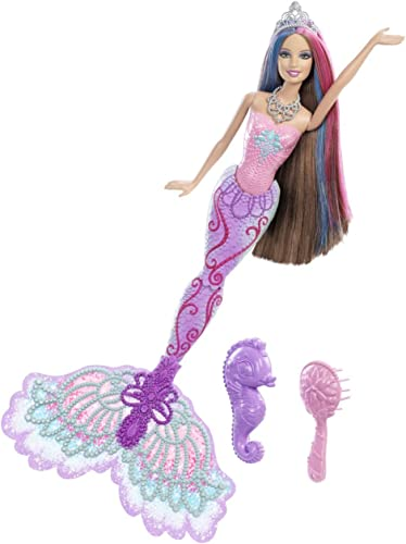 Mattel X9179 - Barbie Farbzauber Meerjungfrau Teresa, Puppe mit Farbwechseleffekt