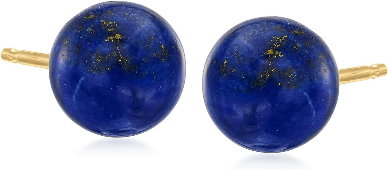 Ross-Simons Lapis Stud Earrings in 14kt Yellow Gold
