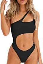 BEAGIMEG Women's Sexy One Shoulder Bathing Suit Cut Out One Piece Swimsuit