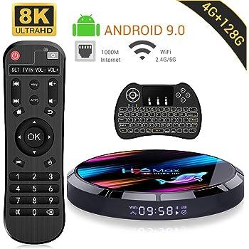 Android 9.0 TV Box ,【4G+128G】 H96 MAX X3 con Mini Teclado ...