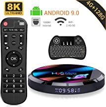 Android 9.0 TV Box ,【4G+128G】 H96 MAX X3 con Mini Teclado inalámbirco S905X3 Quad-Core 64bit Cortex-A53 Android TV Box ,Wi-Fi-Dual 2.4GHz/5GHz, Bluetooth 4.0 , 8K*4K UHD Smart TV Box