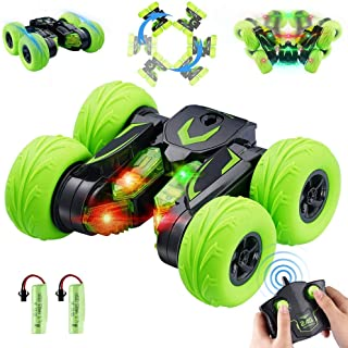 OYE HOYE LED RC Stunt Cars for Kids 4WD 2.4Ghz Remote Control Race Stunt Cars with Headlight 360°...