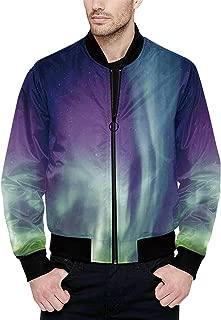 Hitecera American Football Funny Bomber Jacket for Men XS