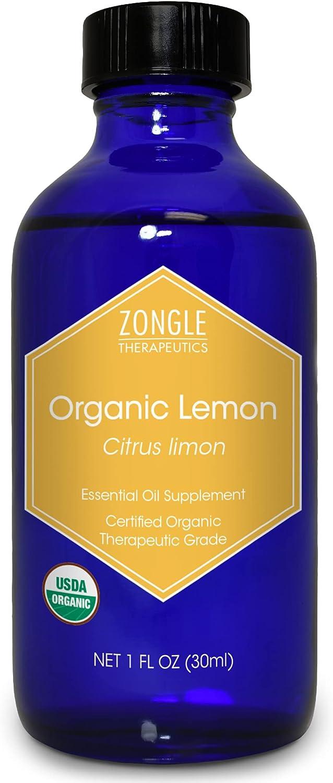 Zongle USDA Certified Organic Lemon Baltimore Mall Italian Oil Essential Very popular Safe