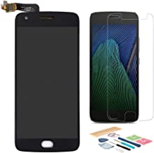XR MARKET Compatible Motorola Moto G5 Plus Screen Replacement, LCD Display Touch Screen Digitizer Assembly Part for XT1685 XT1686 XT1687 with Tools, Screen Protector(Black)