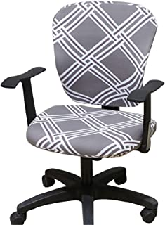 Jinzio Computer Office Chair Cover - Split Protective & Stretchable Cloth Polyester Universal Desk Task Chair Chair Covers Stretch Rotating Chair Slipcover (Universal, Style 26)