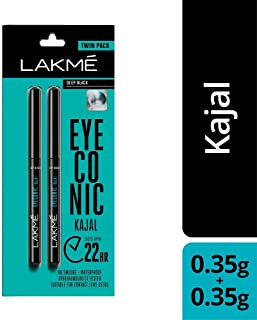 Eyeconic Kajal Twin Pack, Black, 0.35g with 0.35g