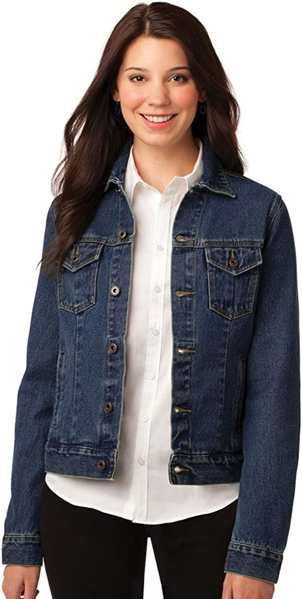 Port Authority Ladies Denim Jacket - Denim Blue L7620 M