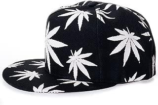 MAYBAO Weed Snapback Luminous Baseball Cap Night Glow Cap Blacklight Baseball Cap Hat