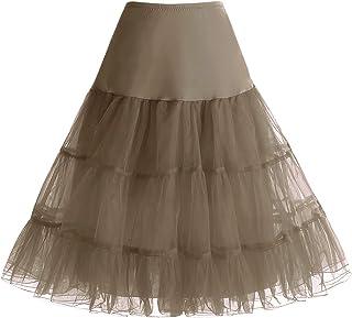 bc2e13862cfa bbonlinedress Organza 50s Vintage Rockabilly Petticoat Retro Underskirt  Knee Length Crinoline Half Slips