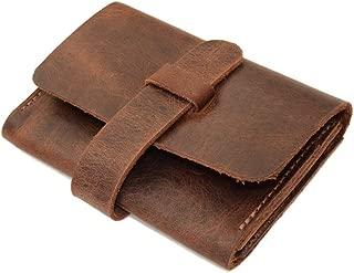 Hide & Drink, Leather Business Card Holder, Wallet, Cash Organizer, Pocket Accessories, Handmade Includes 101 Year Warranty :: Bourbon Brown