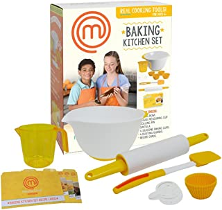 MasterChef Junior Baking Kitchen Set - 7 Pc. Kit Includes Real Cooking Tools for Kids and Recipes