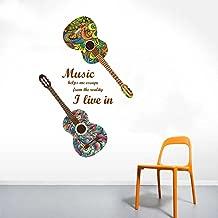 Rawpockets Guitar n Music' Wall Sticker (Paper Print, 130 cm x 75cm)