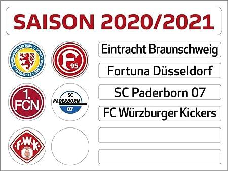 Am Ball Com 2 Bundesliga Magnettabelle Update Set Saison 2020 2021 Amazon De Spielzeug