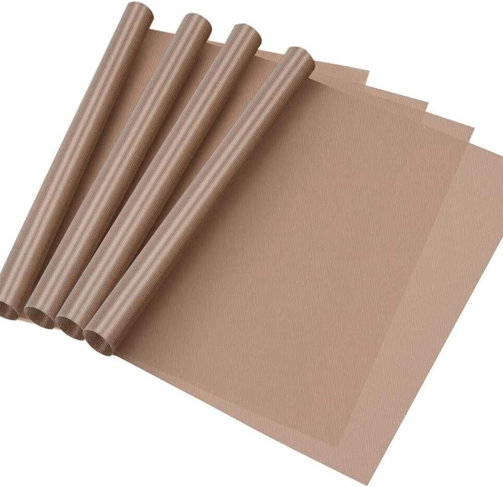 Selizo 4 Pack Teflon Popularity Sheet for Heat Craft Recommendation Mat Non-Stick Press