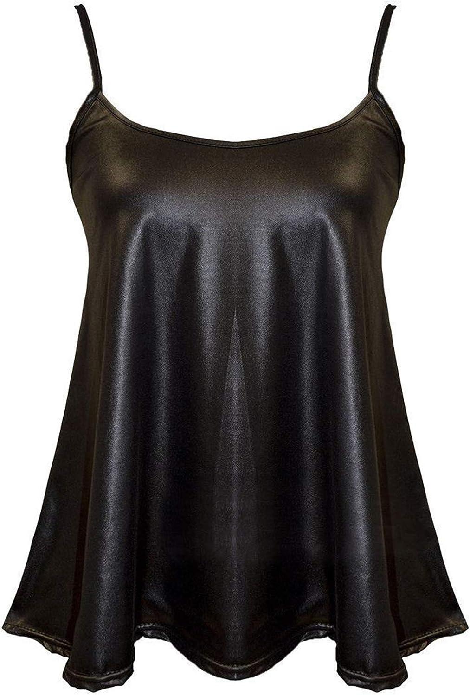 Elum® New Womens Long Sleeves PVC PU Wetlook Midi Dress Ladies Skater Peplum Mini Skirt Top Size Upto 8-26