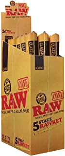 15 RAW Classic 5 Stage Rawket 5 Pack Pre-Rolled Cones Full Box