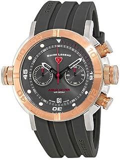 Swiss Legend Aqua Diver Chronograph Watch SL-10622SM-SR-014-GRYS
