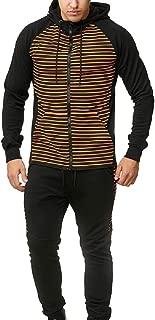 Men Tracksuit 2 Piece Athletic Sports Full Zip Active Wear Sweatsuit Jogger Sweat Suit