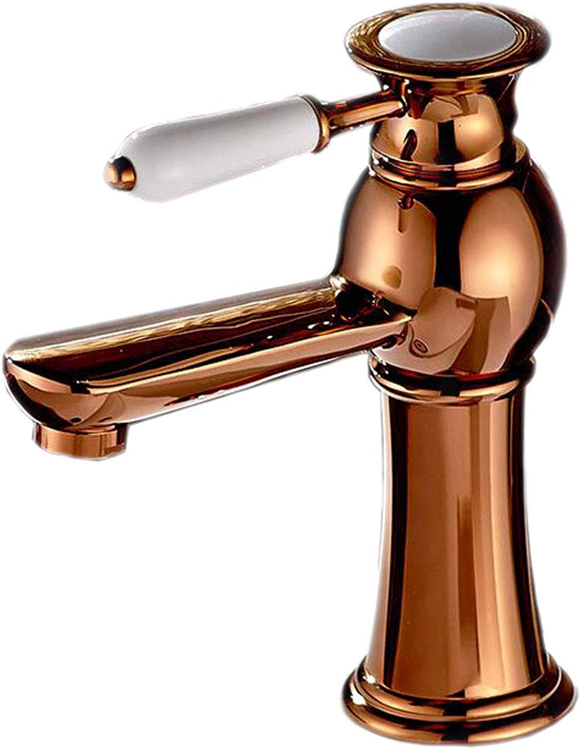 Bidet Taps Faucet Single Hole Copper Hot And Cold gold Flat Mouth Bathroom Wash Basin Mixing Valve Aperture 32MM To 40MM Can Be Installed