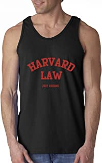 Harvard Law Just Kidding Men's Tank Top Funny College Tank Tops