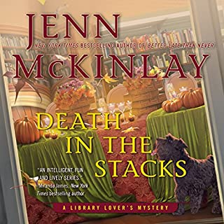 Death in the Stacks audiobook cover art