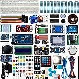 Smraza Completo Starter Kit,Mega 2560 con Guías Tutorial y Placa Controladora Mega 2560, LCD1602, Servomotor, Motor Paso a Paso Compatible con Arduino R3 Nano v3