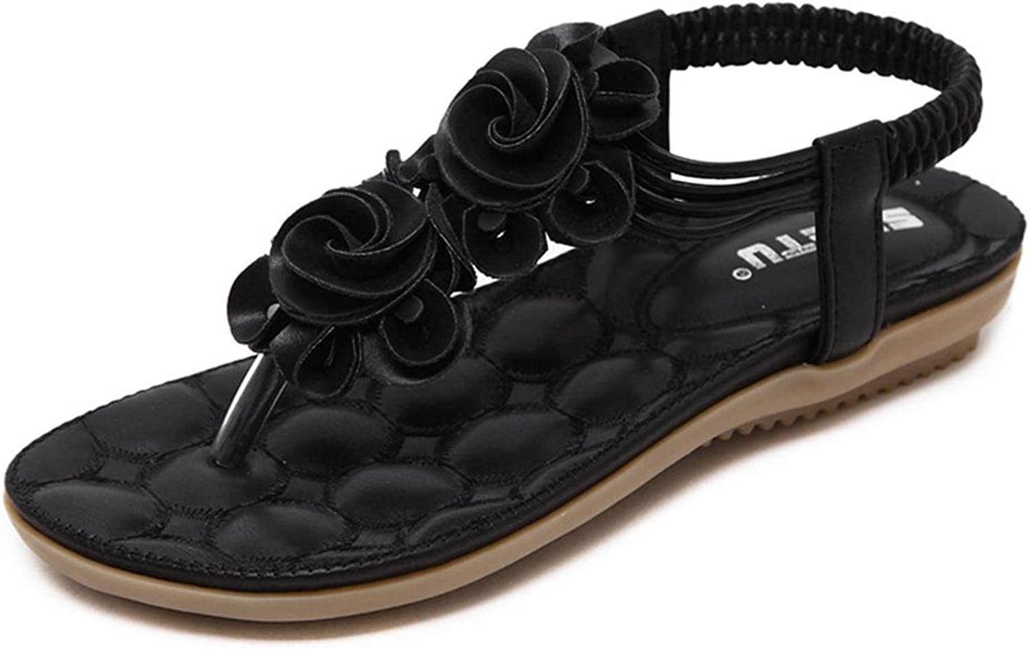 Tuoup Floral Leather Thong Walking Women's Sandals Sandles