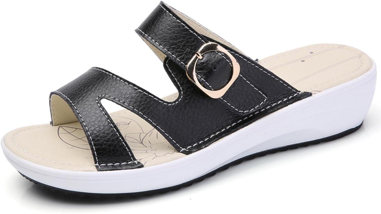 Women flat beach slippers round toe comfortable sandals flip flops
