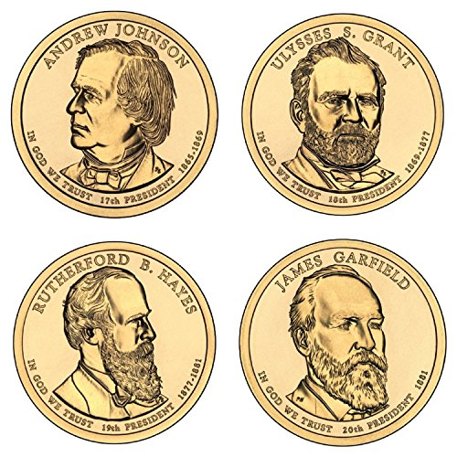 2011 P Complete Set of all 4 Presidential Dollars Uncirculated